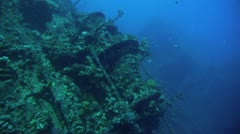 Total shot of ship wreck Stock Footage
