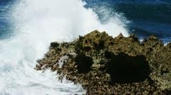 big wave splash 03 - stock footage