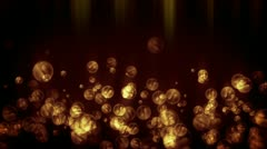 Stock Video Footage of Water Bubbles Holiday BG, Orange tint