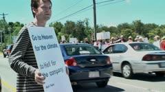 Gay protestors 5 27 12 Stock Footage