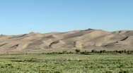 Great Sand Dunes from Moving Vehicle Stock Footage