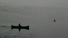 Canoe on the river 2 Stock Footage