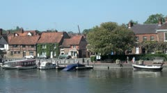 Thameside, Henley on Thames Stock Footage