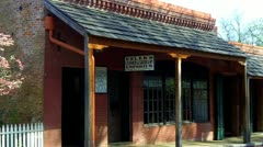 Old West Saddle Shop- Columbia State Historical Park - stock footage
