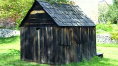 Old West Miner's Shack- Columbia State Historical Park Stock Footage