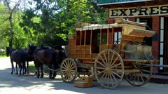 Old West Stagecoach 1- Columbia State Historical Park Stock Footage