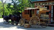 Stock Video Footage of Old West Stagecoach 4- Columbia State Historical Park