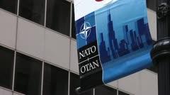 NATO Seal - North Atlantic Treaty Organization Stock Footage