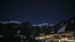 Austria Night Time Lapse Stock Footage