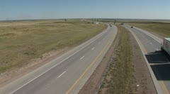 Wyoming Interstate Highway Stock Footage