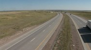 Stock Video Footage of Wyoming Interstate Highway