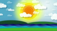 Animated Nature Scene Stock Footage