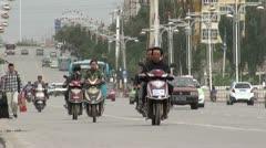 Modern highway in Kashgar, China Stock Footage