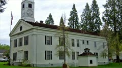 Old West Mariposa County Courthouse 2 - stock footage
