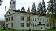 Stock Video Footage of Old West Mariposa County Courthouse 3