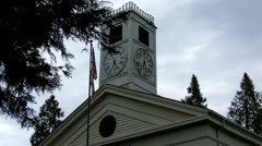 Old West Mariposa County Courthouse 3 - stock footage
