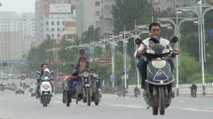 Busy highway in Kashgar in time lapse Stock Footage