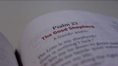 Psalms 23 Modern Bible - stock footage