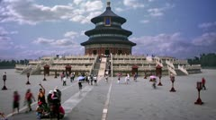 Time-lapse of Temple of Heaven in Beijing, China. Stock Footage
