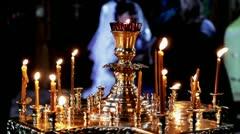Orthodox believers Stock Footage