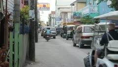 San Pedro, Belize - Street HandHeld Stock Footage