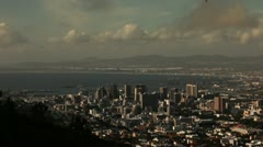 Slow timelapse over downtown Cape Town Stock Footage
