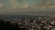 Stock Video Footage of Slow timelapse over downtown Cape Town