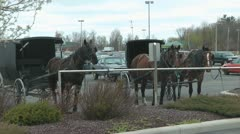 Amish Parking Stock Footage