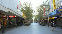 Perth Australia the walking street with Murray Street at the Hay Street Mall in Stock Footage