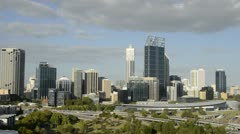 Perth Australia panoramic of city with beautiful skyline from above in Western Stock Footage
