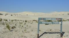 Nambung National Park white sand dunes in Western Australia Australia Stock Footage