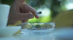 Smoking Cigarette 002 Stock Footage