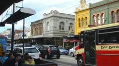 Melbourne Australia restarants and shops and traffic in tourist area of Chapel Stock Footage