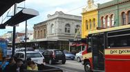 Stock Video Footage of Melbourne Australia restarants and shops and traffic in tourist area of Chapel
