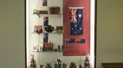 Canberra Australia souvenirs of items made in Australia in the Capital Building Stock Footage