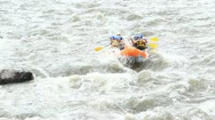 Whitewater rafting on the rapids of the river Patate, Ecuador Stock Footage
