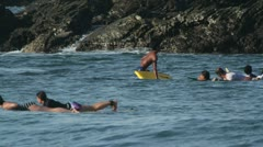 Surfers surf mexico Stock Footage