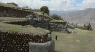Stock Video Footage of cuzco cusco peru saqsayhuaman temple outside of the city with boulders