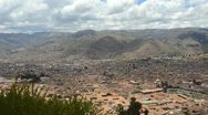 Stock Video Footage of cuzco cusco peru panoramic scenic from above in the mountains south america