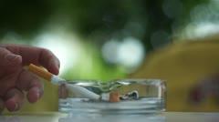 Smoking Cigarette 004 Stock Footage