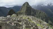 Machu picchu peru the famous ruins of the incas with mountains and peaks from Stock Footage
