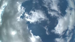 Fisheye Clouds Time Lapse Stock Footage