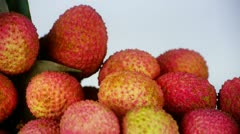 Delicious lychee. Stock Footage
