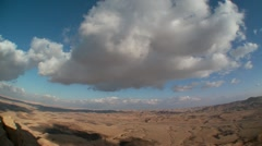 Clouds Time Lapse over the Ramon crater in the Negev desert, Israel Stock Footage