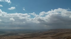 Clouds Time Lapse in the desert Stock Footage