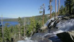 Eagle Falls and Emerald Bay, Lake Tahoe, California Stock Footage