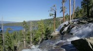 Eagle Falls and Emerald Bay, Lake Tahoe, California Stock Footage