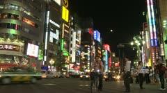 Shinjuku Street, Tokyo, Japan 3 Stock Footage