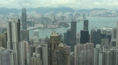 Panoramic view of Hong Kong by day, China Stock Footage