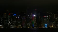 Symphony of Lights, Hong Kong, China Stock Footage